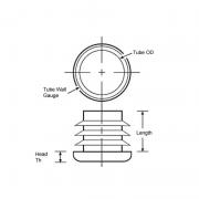 Tube Insert Round Metric
