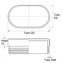 Tube Insert Oval Metric