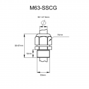 Stainless Steel Metric Cable Gland M63