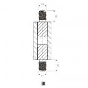 Hex Brass Nylon Male/Male Spacer