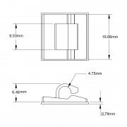 Adhesive Backed Wire Clip