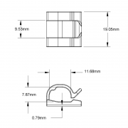 Self Adhesive Side Entry Cable Clips