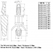 Locking Circuit Board Support Posts Series 6