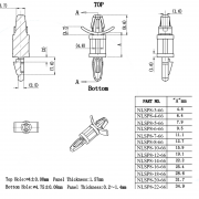 Locking Circuit Board Support Posts Series 8